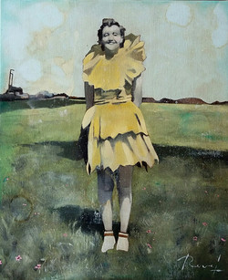 """""""La femme fleur"""" - Huile sur toile 46x38cm"""