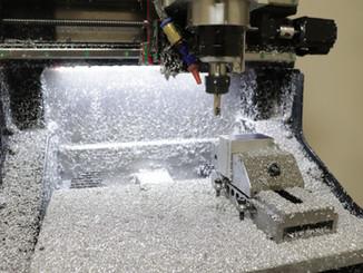 Facing, using a 10mm insert mill