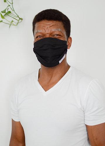Adjustable Black Pleated Masks