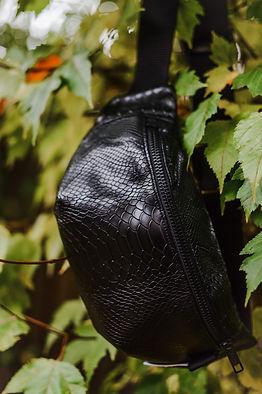 black snake print fanny pack.JPG