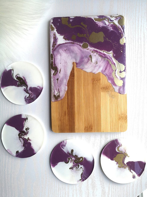 Charcutterie Tray and  Coaster Set