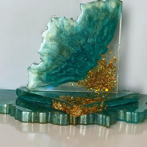 Resin Art Coaster Set