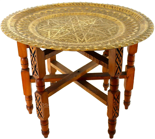 "Brass Table  27""x32"""