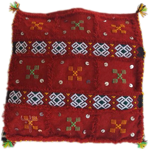 Wedding Blanket Pillow - Red