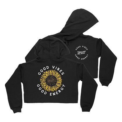 Women's Sunflower Cropped Hoodie