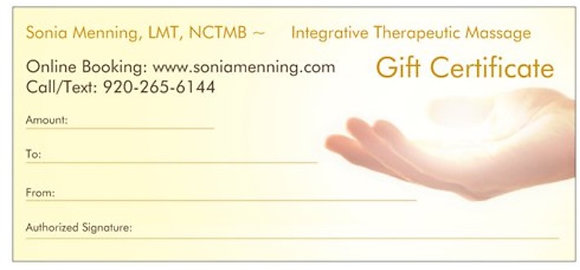 1- 90 Minute Massage GIFT CERTIFICATE