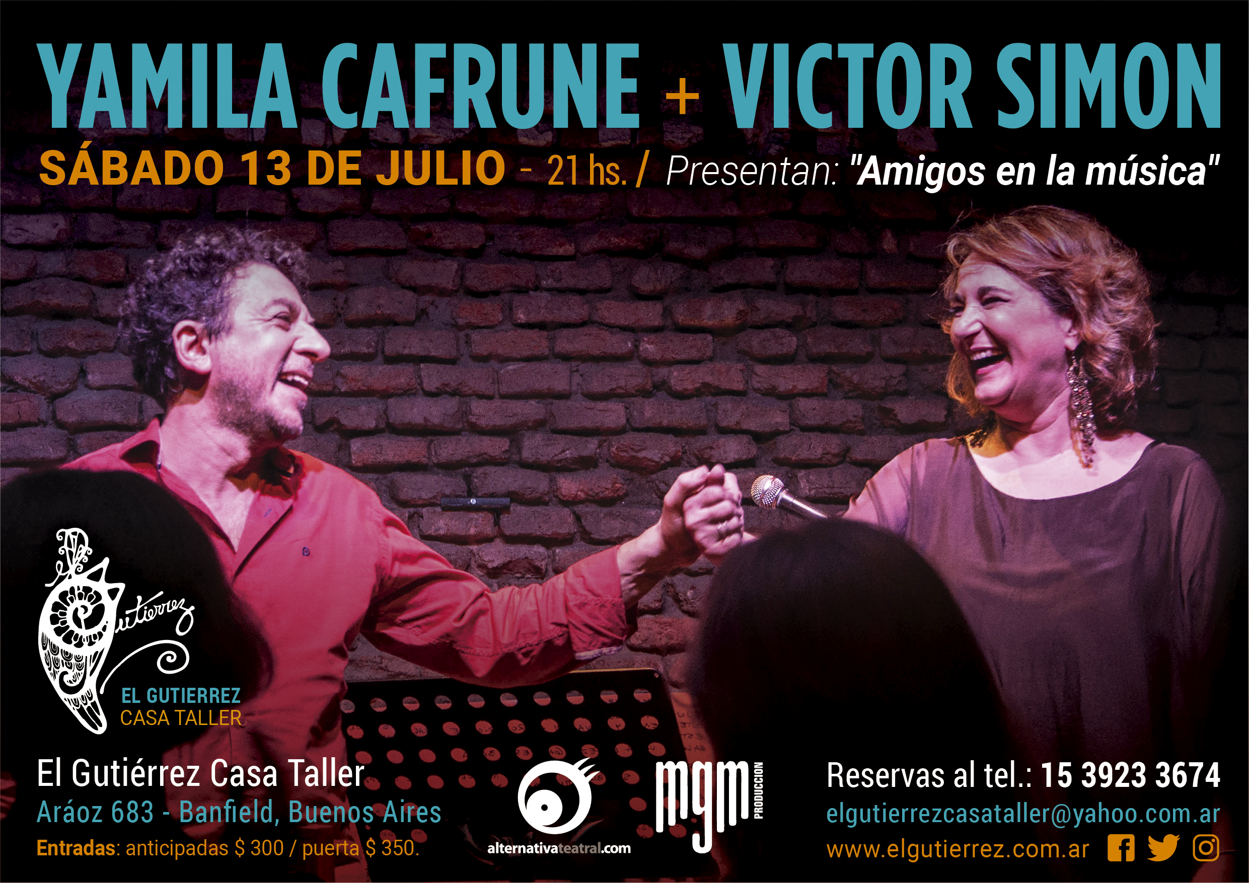 Yamila Cafrune y Victor Simon