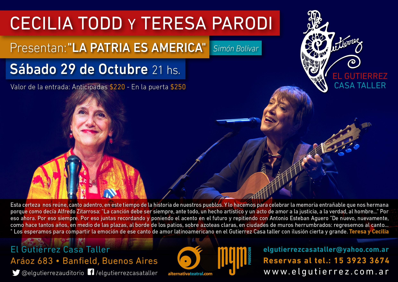Cecilia Todd y Teresa Parodi