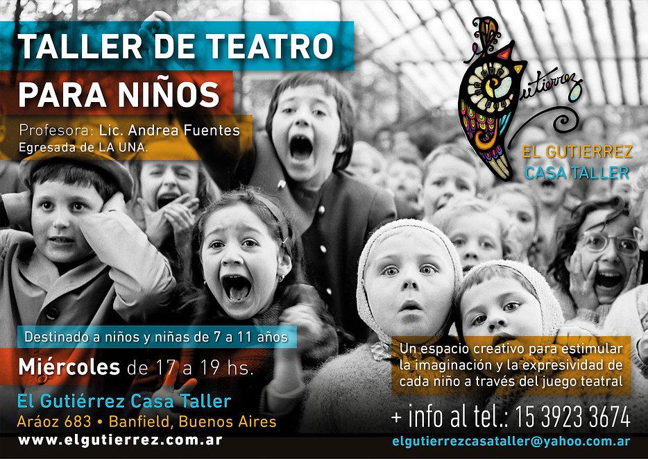 Taller de teatro para niños El Gutierrez Casa Taller
