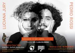 Luciana Jury y Pedro Rossi