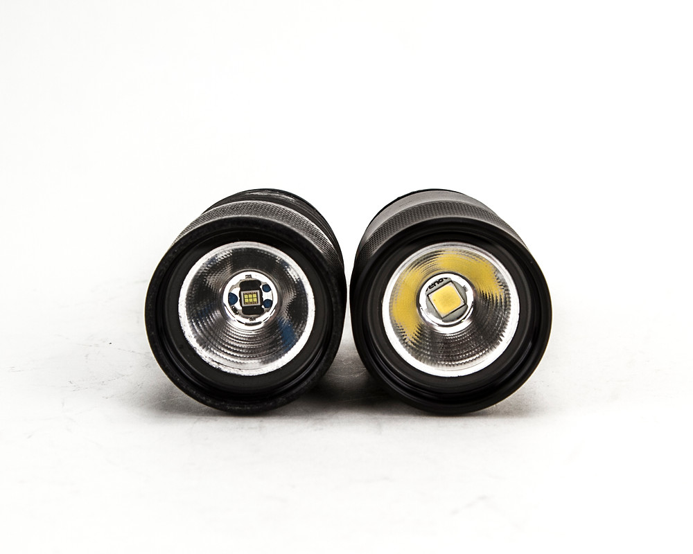 12w v2.0 on the right, with its predecessor on the left