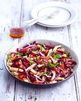 Salade de Pâtes Betteraves Oignons Poivrons
