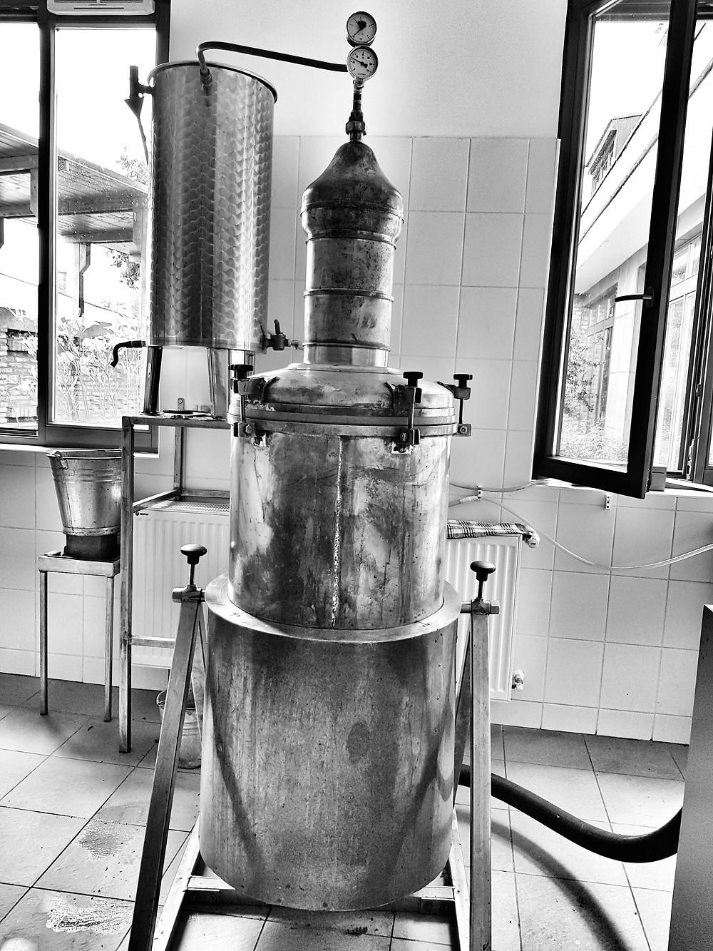 a kisebb réz lepárló Szigetváron az Arura Manufaktúránál
