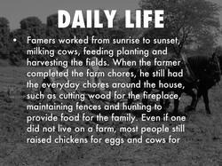 1800's farm life