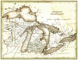 Michigan 1835 map Territory Period