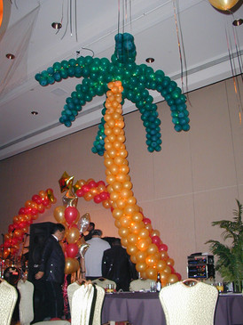 Sculpted Palm Trees with lights