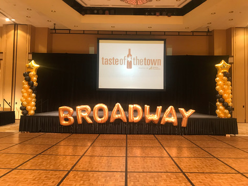 Stage Set for Broadway Theme Dance Troop