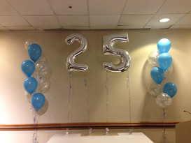 Bouquets to accent the 25