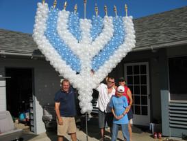 Menorah for Jewish Parade In Waikiki