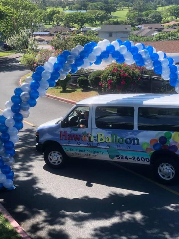 Drive Thru Graduation Arch for Moanalua High School