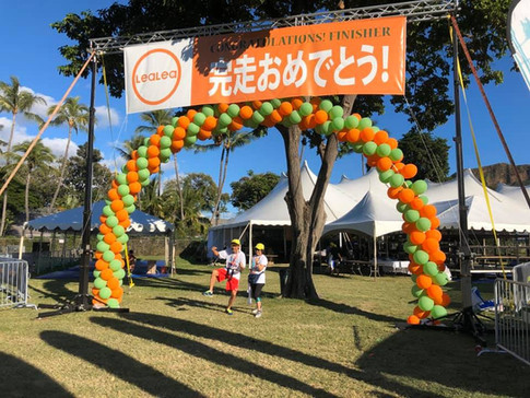 25' wide extra tall Spiral Arch air filled on frame