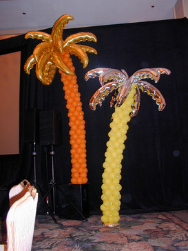Sculpted Palm Trees