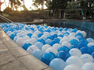 Floating Balloons on Pool