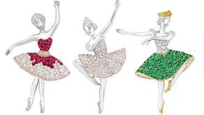 如蝶翩翩  旋舞生姿 梵克雅寶推出全新芭蕾女伶胸針與腕錶