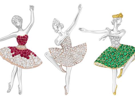 如蝶翩翩  旋舞生姿|梵克雅寶推出全新芭蕾女伶胸針與腕錶