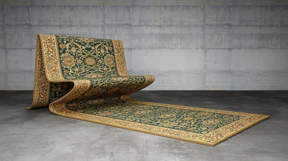由設計師Stelios Moussaris和藝術家Jan Blythe共同創作的Carpet Chair與Carpet Sofa,是您家中最美麗而夢幻的奢華座椅。