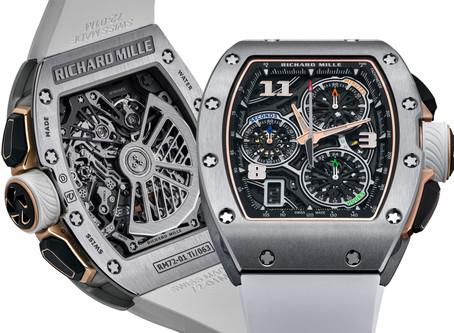 RICHARD MILLE迎來第一只自製計時碼錶:RM72-01