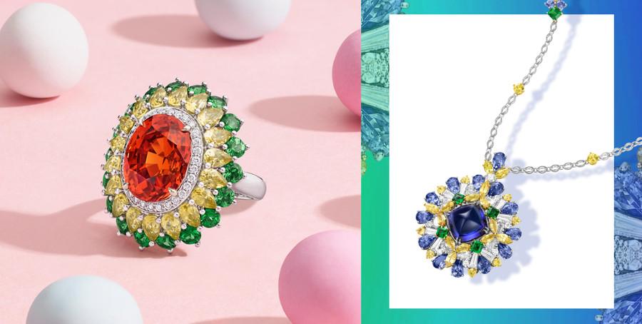 甜美繽紛|海瑞溫斯頓以彩色寶石創造美麗花花世界