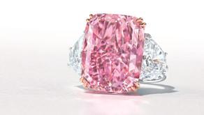 好一朵美麗的粉櫻花|15.81 克拉豔彩紫粉紅鑽拍出逾8億天價