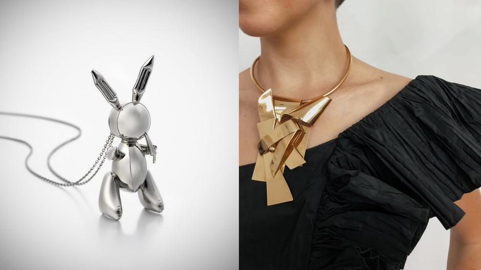 把傑夫昆斯的28億兔子戴上身 紐約蘇富比「Sculpture to Wear」珠寶展大秀可穿戴上身的微形雕塑