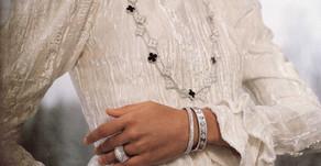 金珠結合立體雕刻再現經典,Perlée diamonds pavé戒指宛如鑲鑽小餡餅
