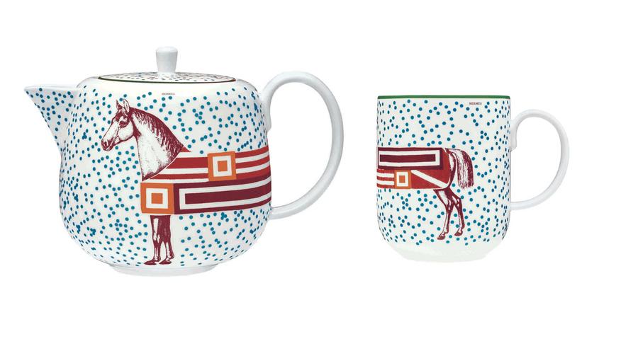 宛如加長禮車的馬| HERMÈS 愛馬仕Hippomobile 系列餐瓷