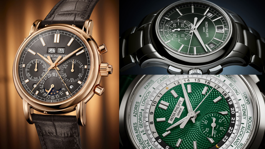 百達翡麗計時腕錶大軍降臨,不只有頂尖複雜功能還有最受歡迎的綠面款式!