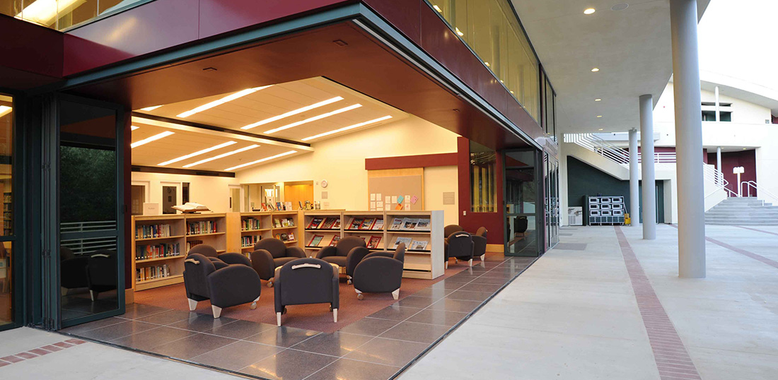 LaCantina Folding Door Open Library