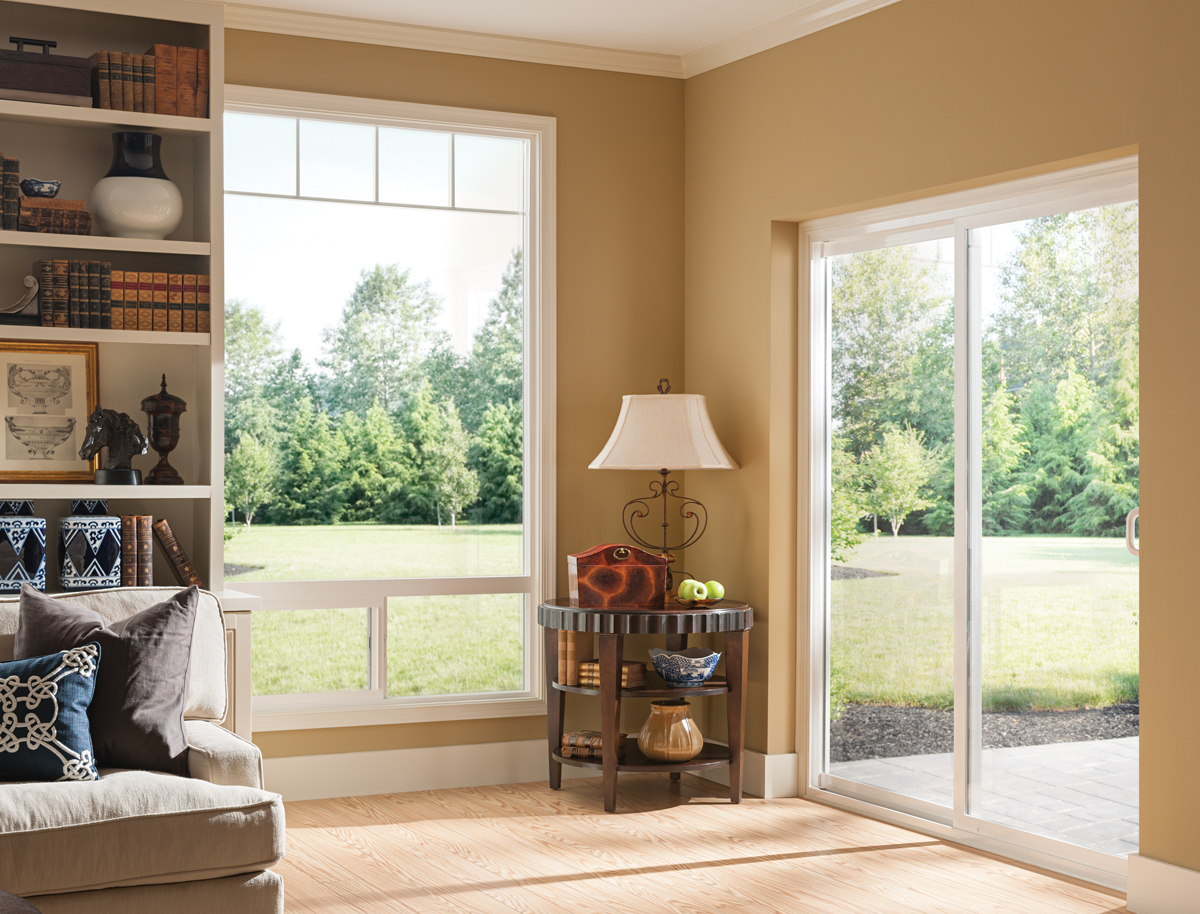 Style Line Sliding Patio Door, White Interior