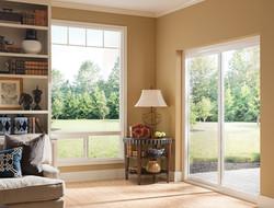 Style Line Sliding Patio Door, White Interior