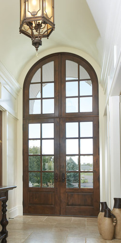 Heritage Series French Inswing Entrance Door With Radius Transom