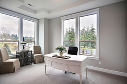 Style Line Sing Hung And Picture Window Combination In Tan