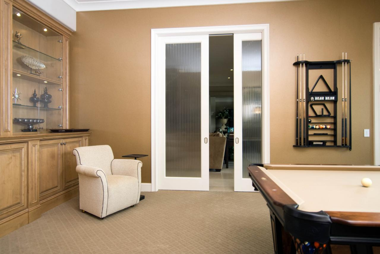 FL100 Game Room Pocket Doors