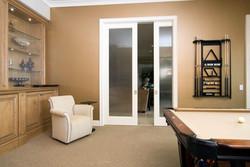FL100 Game Room Pocket Doors