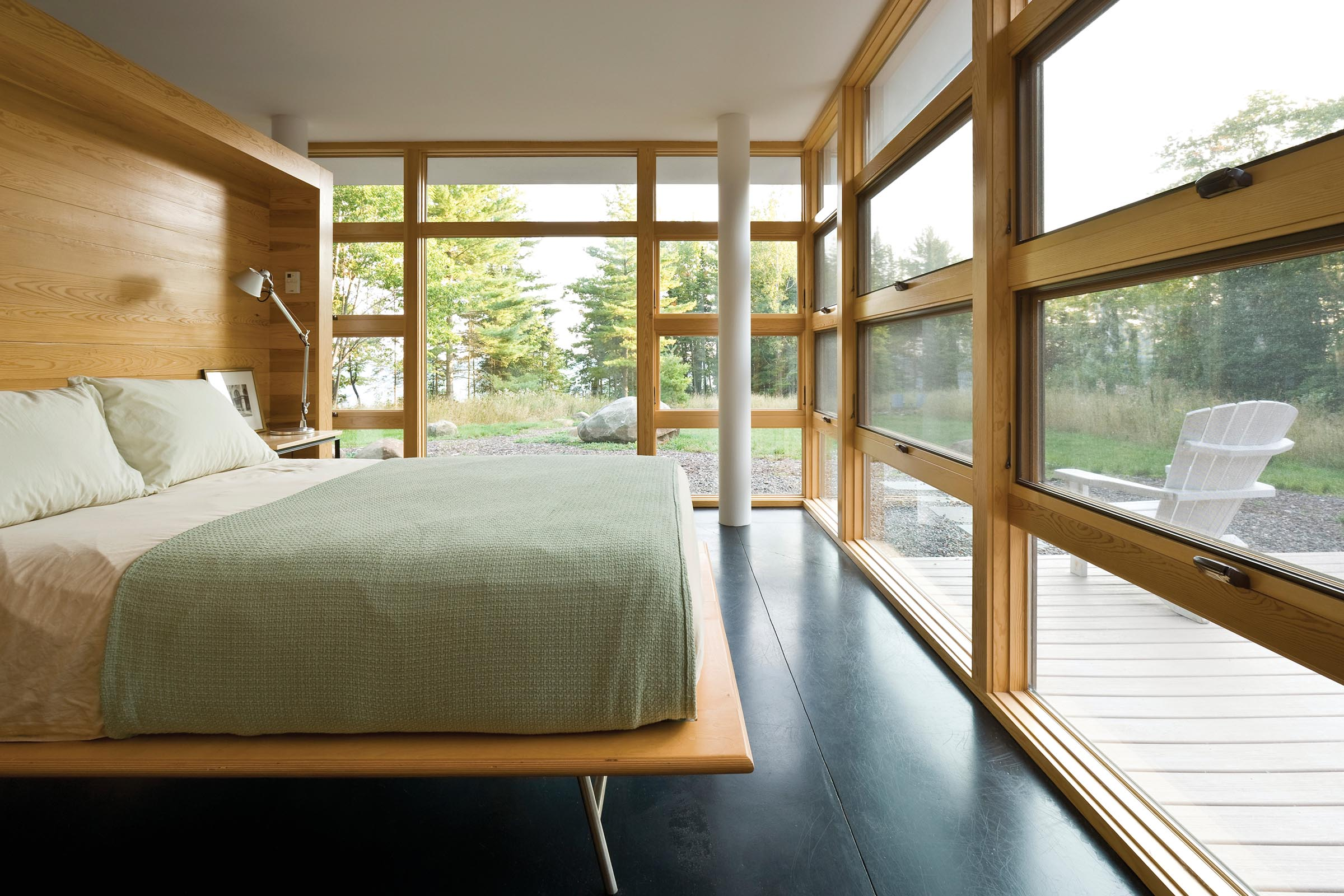 E-Series Awning and Picture Windows With Pine Interiors