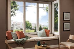 Tuscany Series Triple Casement Windows With Valance Grids