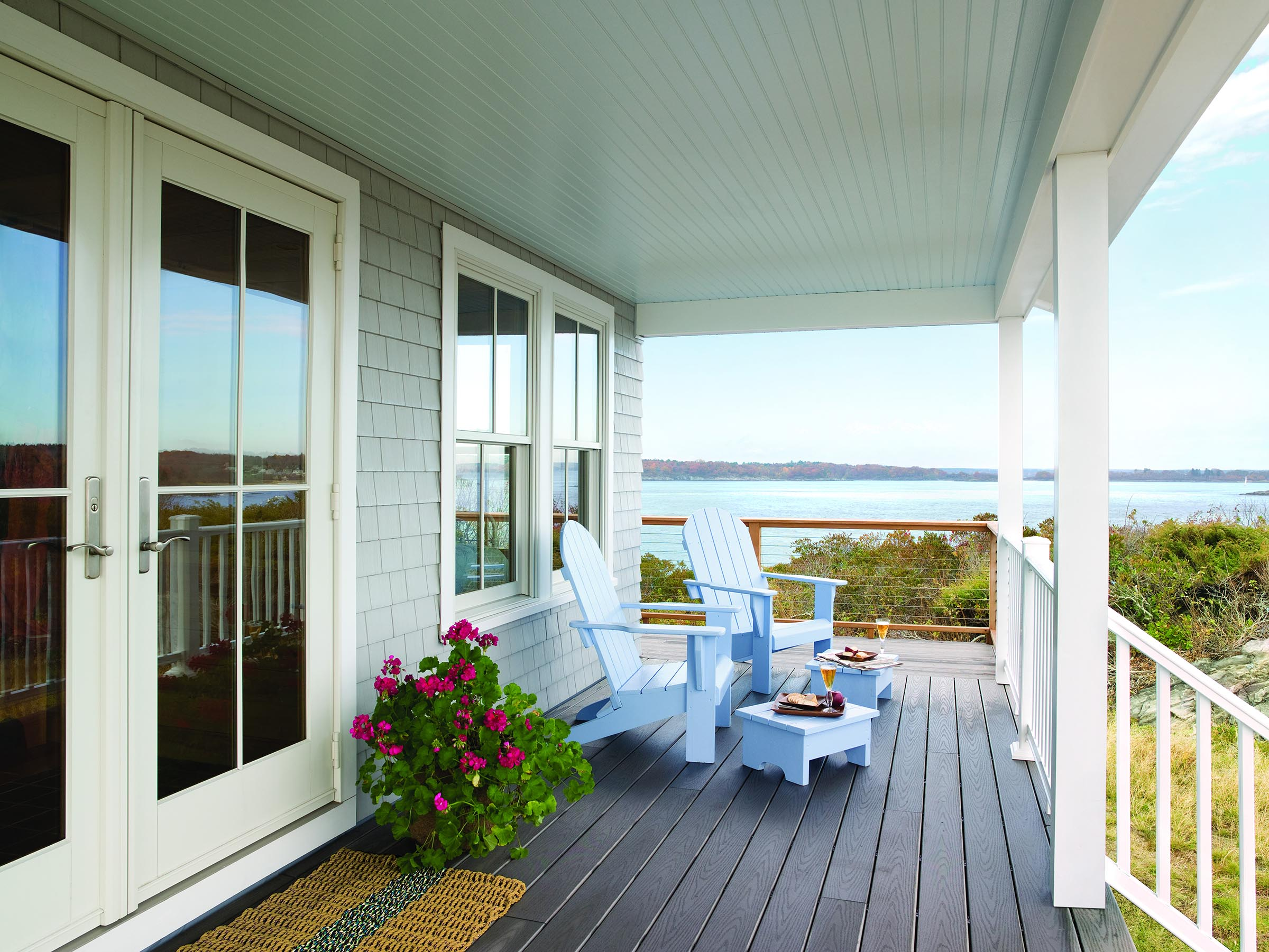 A-Series Double-Hung Windows and Hinged Patio Door