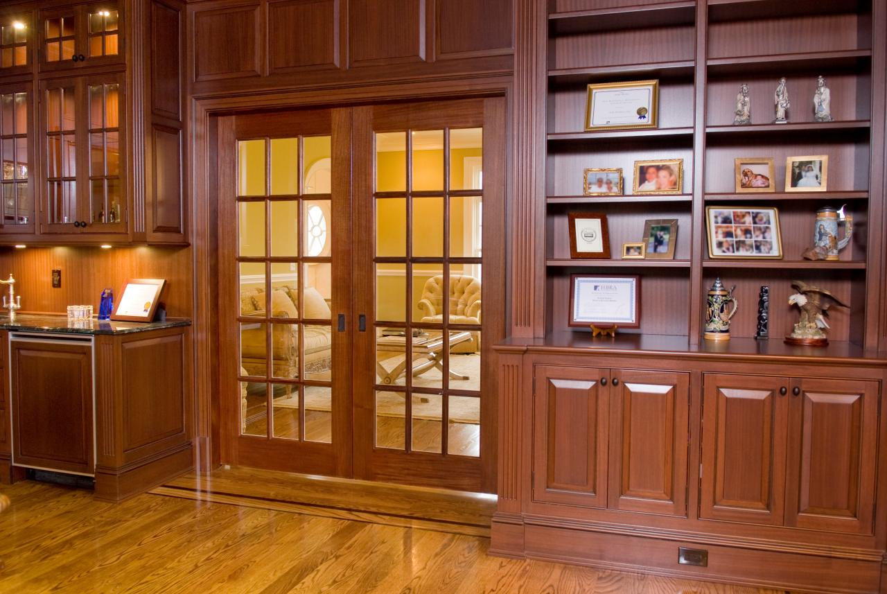 Pair of FL1500 Pocket Doors In Mahogany