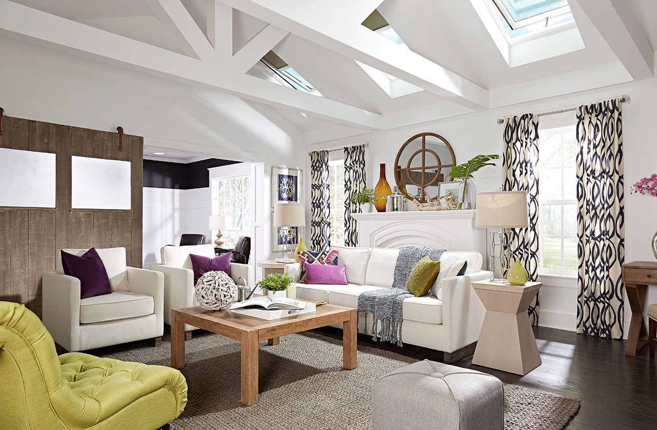VELUX Skylight Living Room