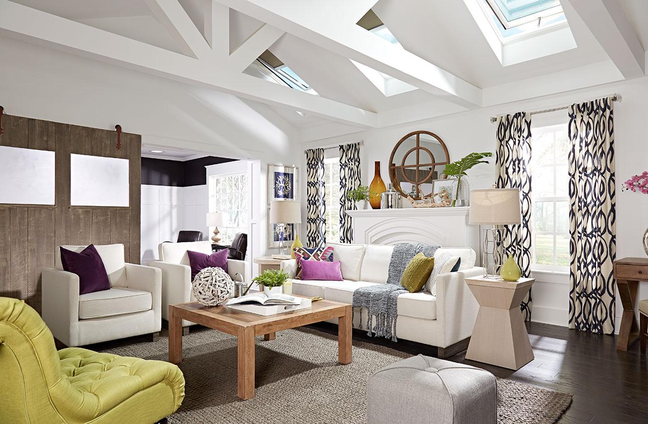 VELUX Skylight Living Room